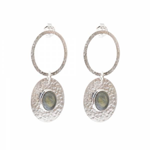 Thankful Labradorite Silver earrings