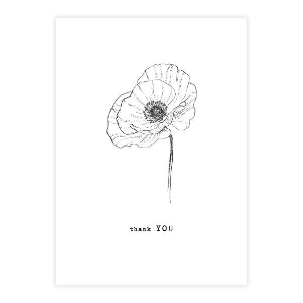 Greeting Card Poppy