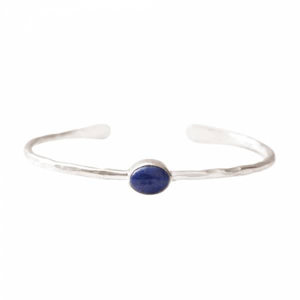 Moonlight Lapis Lazuli Silver Bracelet