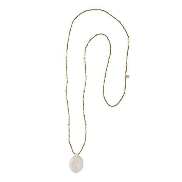 Swing Labradorit Silber Halskette