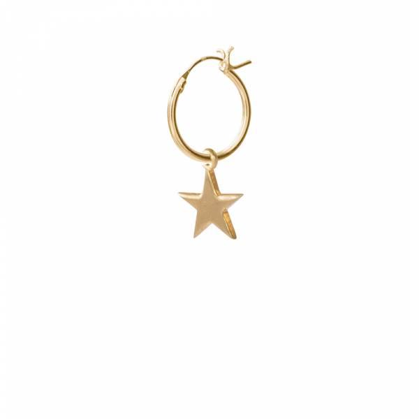 Großen Stern Sterlingsilber vergoldet Ohrring