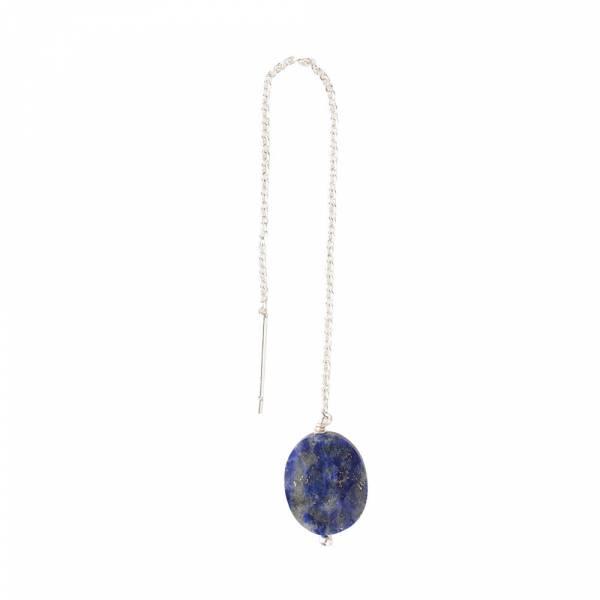 Elegant Lapis Lazuli Silver Earring