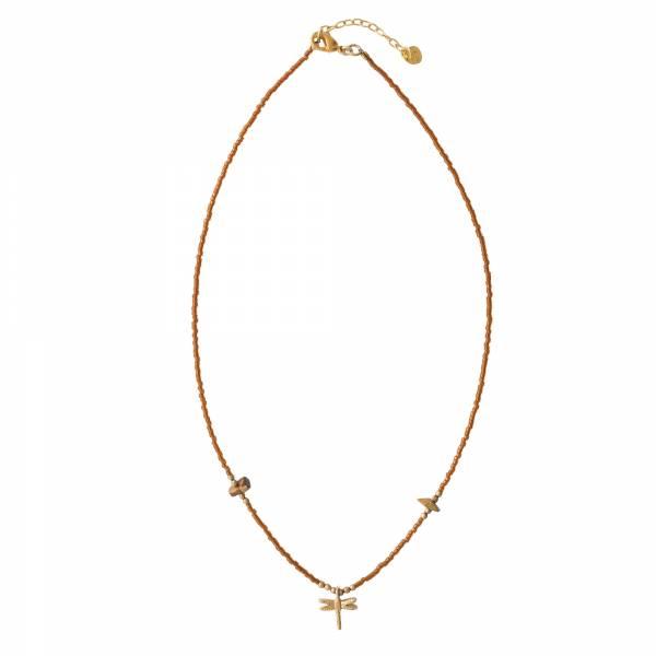 Wildflower Tigerauge Gold Halskette