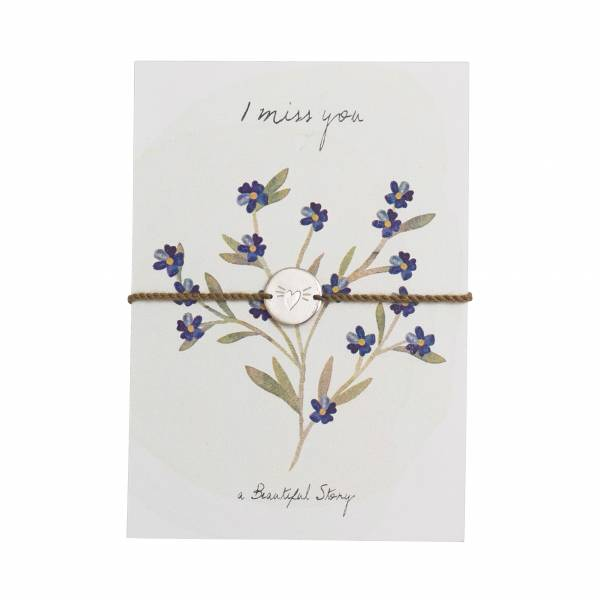 Jewelry Postcard Forget Me Not