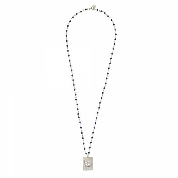 Radiate Lapislazuli Silber Halskette