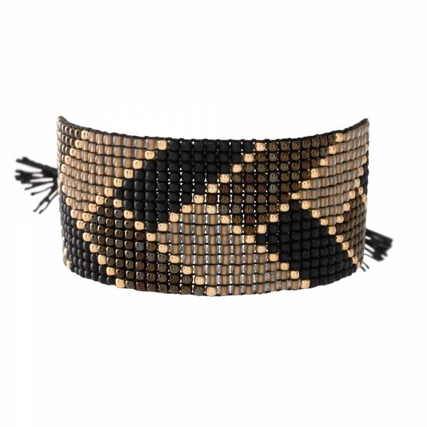 Willow Schwarzer Onyx Gold Armband