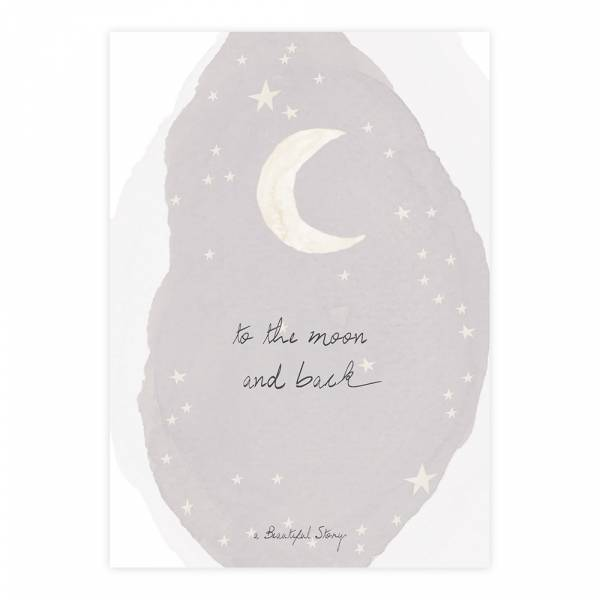 Greeting Card Moon