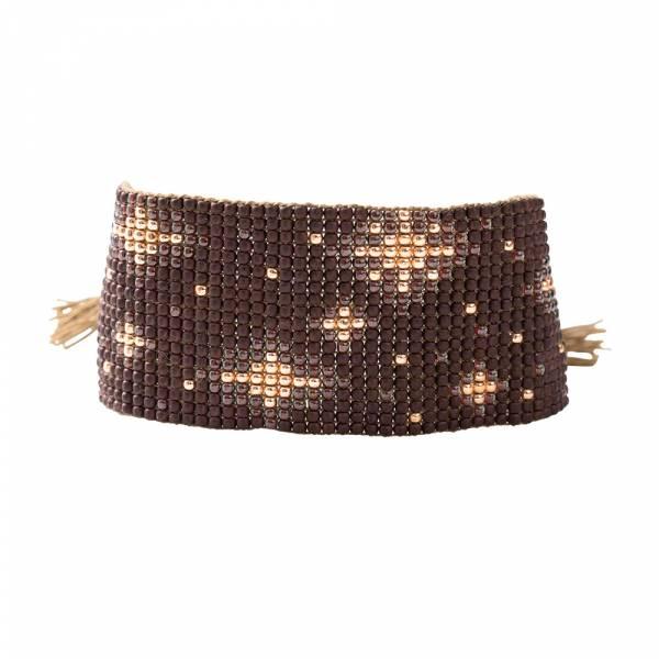 Starlight Garnet Gold Bracelet