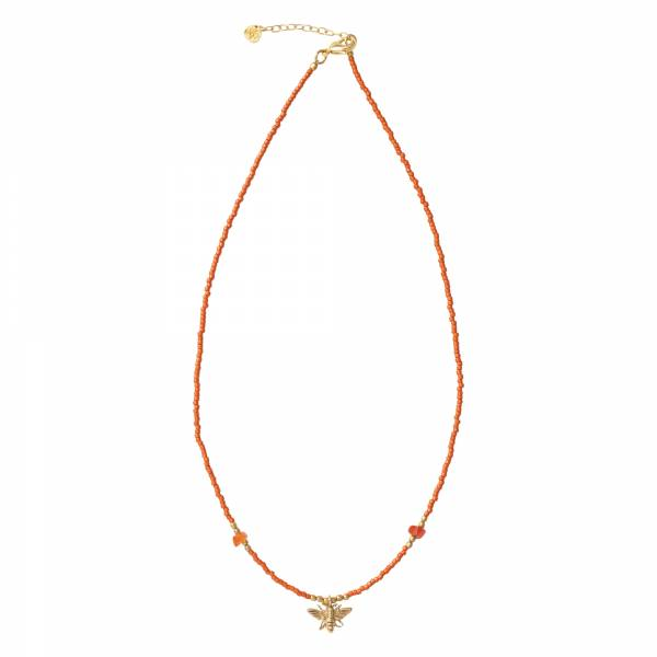 Wildflower Carnelian Gold Necklace