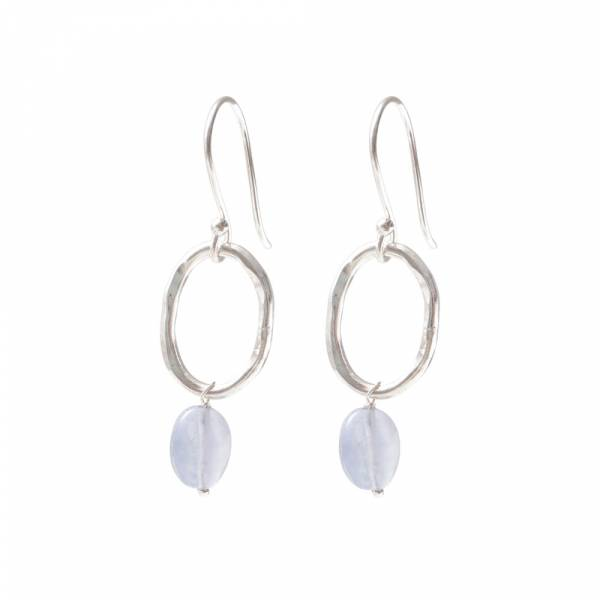 Graceful Blue Lace Agate Silver Earrings