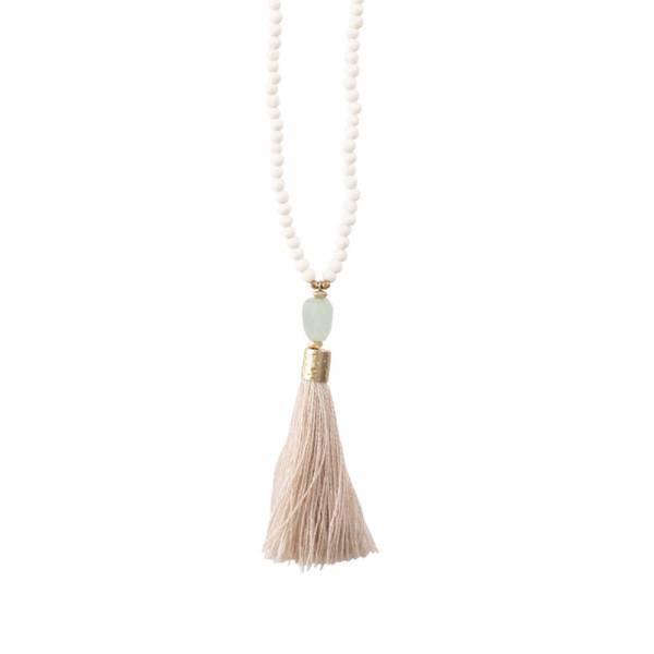 Mala Aventurine Gold Necklace