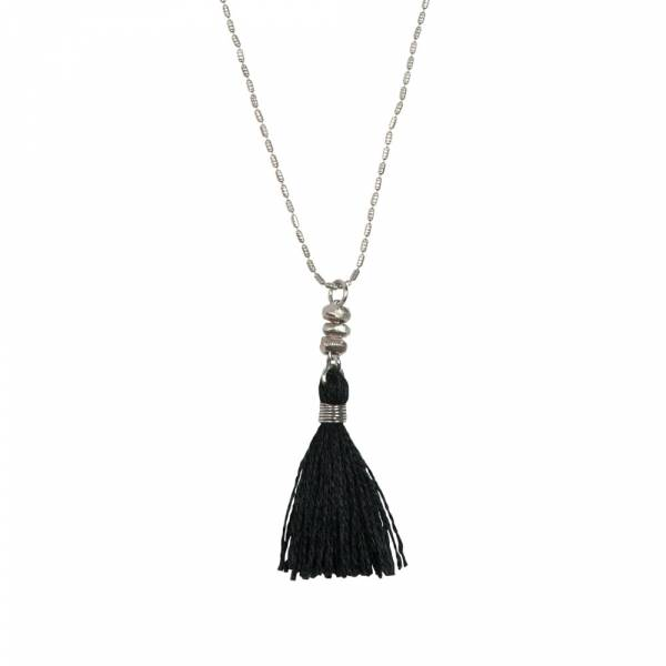 Miracle black silver necklace