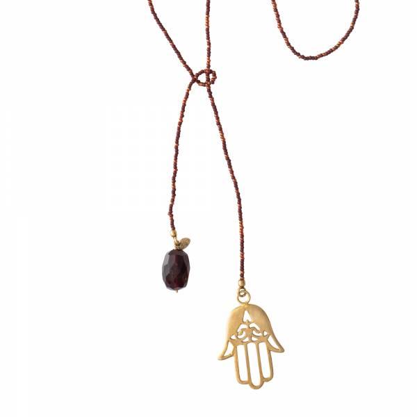 Nova Garnet Gold Necklace