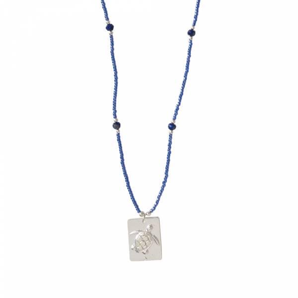 Delight Lapislazuli Silber Halskette