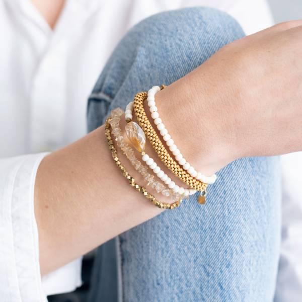 Superwrap Citrin Gold Armband