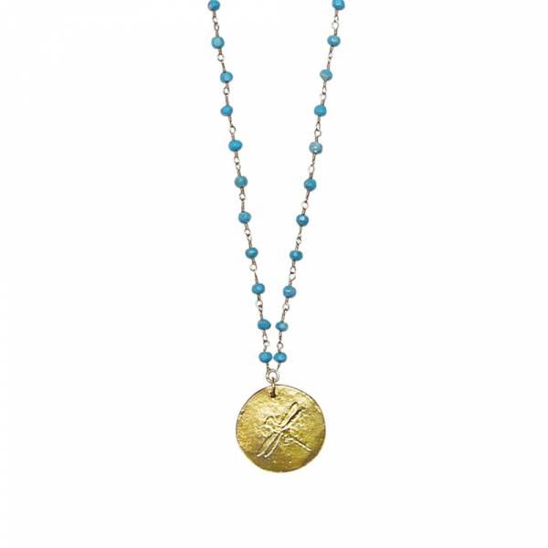 Türkisblau Rosenkranz Halskette