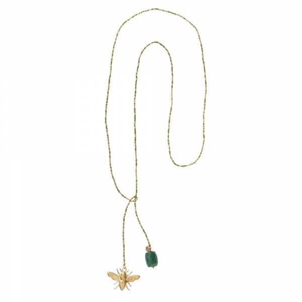 Nova Aventurine Gold Necklace