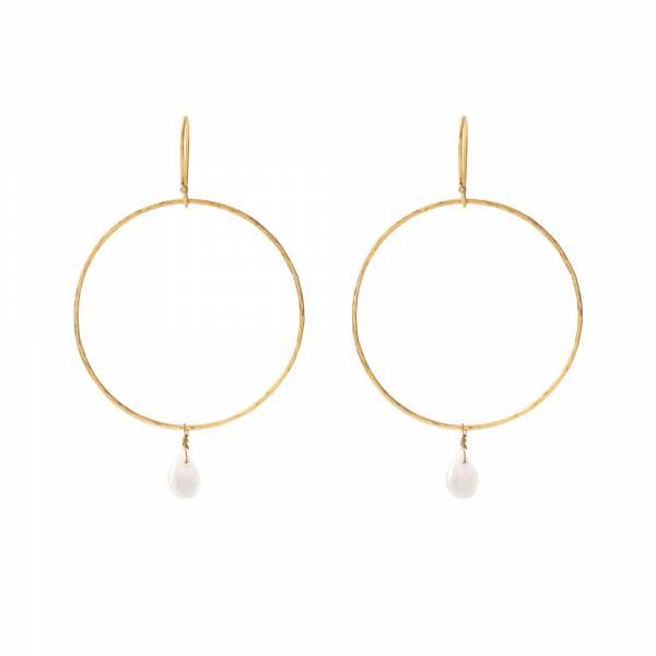Embrace Moonstone Gold Earrings
