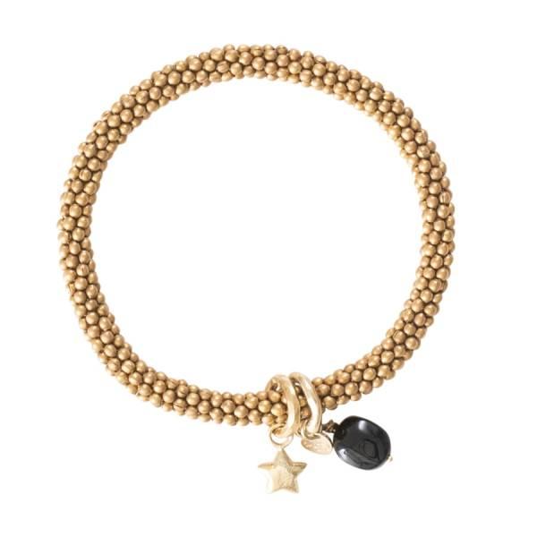 Jacky Black Onyx Star Gold Bracelet