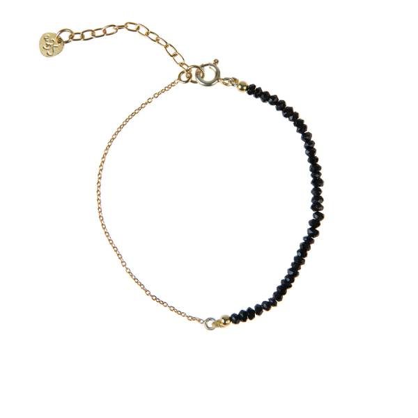 Darling Black Onyx Sterling Silver Gold-Plated Bracelet