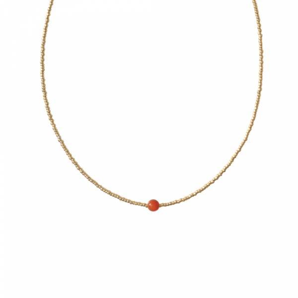 Flora Carnelian Gold necklace