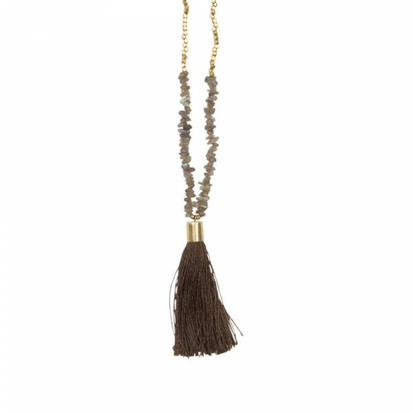 Brave Labradorite Gold Necklace