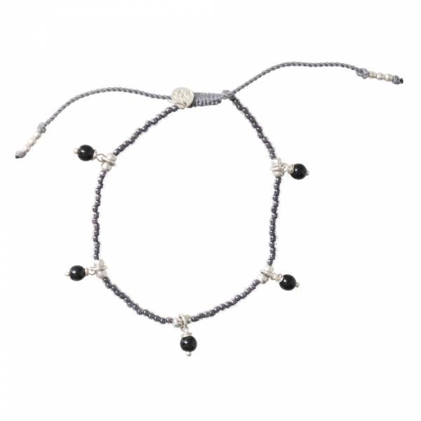 Dreamy Schwarzer Onyx Silber Armband