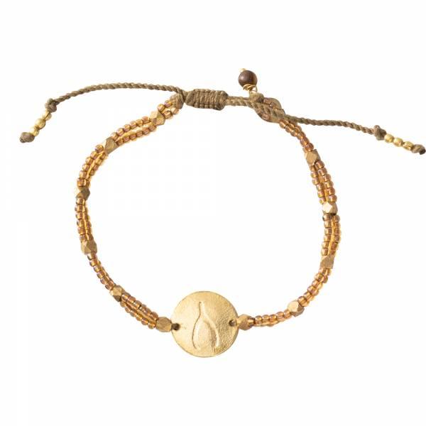 Gratitude Tijgeroog Goud Armband