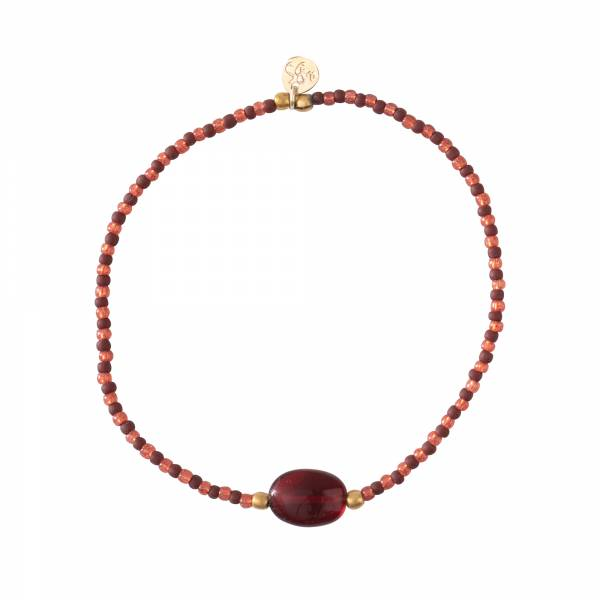 Winter Garnet Gold Bracelet